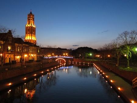 ハウステンボス_黄昏のシンゲル運河