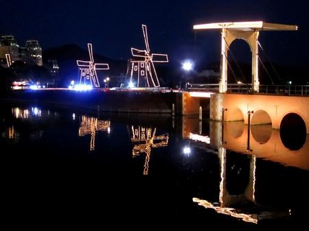 ハウステンボス_夜のデルフト橋