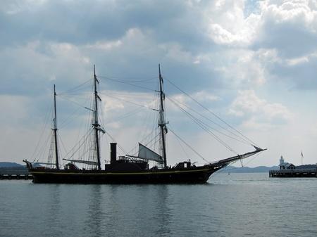 ハウステンボス_帆船「観光丸」の出航