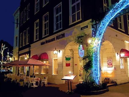 ハウステンボス_夜のイタリアンレストラン(ガッシュ風)