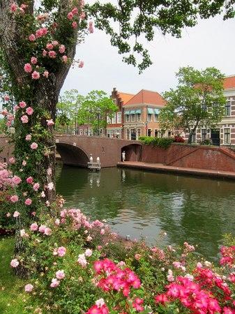 ハウステンボス_バラと運河